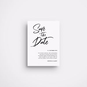 »Monochrome« Save-the-Date Karte