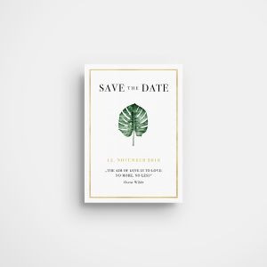»Palm Tree« Save-the-Date Karte